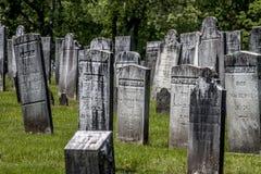 Gammal Connecticutt kyrkogård fotografering för bildbyråer
