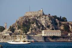 gammal corfu fästning royaltyfri fotografi