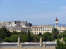 Gammal Corfu town 1 Royaltyfria Foton