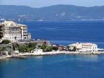 Gammal Corfu town 2 Arkivbild