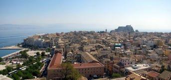 Gammal Corfu town. Royaltyfri Bild
