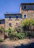 Gammal Cortona stad i Tuscany Royaltyfria Foton
