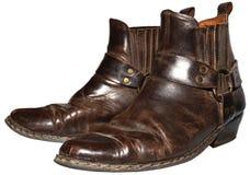 Gammal cowboy Boots Arkivbild