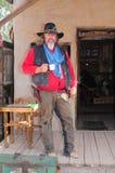 gammal cowboygunfighter Arkivbilder