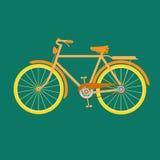 gammal cykel stock illustrationer