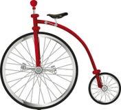 Gammal cykel för cirkus royaltyfri illustrationer