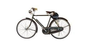 Gammal cykel på vit bakgrund Royaltyfri Fotografi