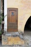 gammal dörröppning Fotografering för Bildbyråer