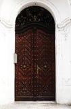 gammal dörr Arkivfoto