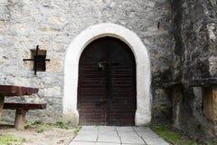 Gammal dörr för vinkällare Royaltyfria Bilder