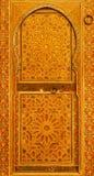 Gammal dörr i museet av Marrakesh Arkivbild