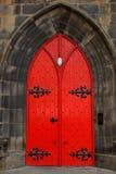 Gammal dörr i Skottland Royaltyfri Foto