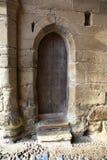 Gammal dörr i slottet Royaltyfria Foton