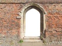 gammal dörr med den tomma tomma porten Royaltyfria Bilder