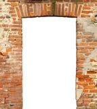 gammal dörr med den tomma tomma porten Royaltyfri Fotografi