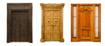 Gammal dörruppsättning 6 Arkivbilder