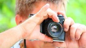 Gammal dag för längd i fot räknat för natur för kamerafotograffors arkivfilmer