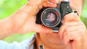 Gammal dag för längd i fot räknat för natur för kamerafotograffors lager videofilmer