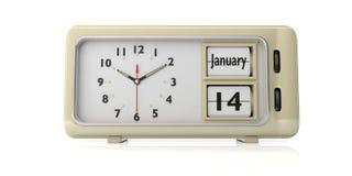Gammal dag för ` s för nytt år Januari 14th, på en ringklocka, isolerade på vit bakgrund illustration 3d vektor illustrationer