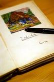 gammal dagbok Royaltyfri Bild