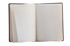 gammal dagbok Arkivbilder