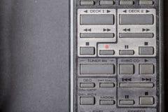 Gammal dammig retro avlägsen elektronisk knappkontroll Arkivfoton