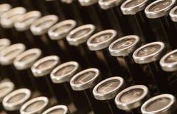 Gammal dammig typewritter Fotografering för Bildbyråer