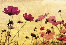 gammal danad blomma stock illustrationer