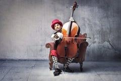 gammal danad musiker Arkivbild
