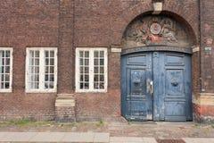 Gammal dansk dörr Royaltyfria Bilder