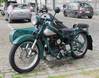 Gammal dansk motorcykel royaltyfri bild