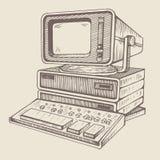 Gammal dator, en av mycket första vektor illustrationer