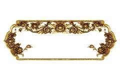 Gammal dekorativ ram som isoleras på vit Royaltyfria Bilder