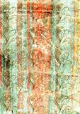 Gammal dekorativ tapet vektor illustrationer