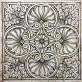 gammal dekorativ tegelplattatappning Arkivbild