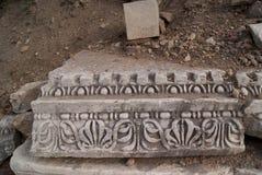 Gammal dekorerad marmorplatta Arkivfoto