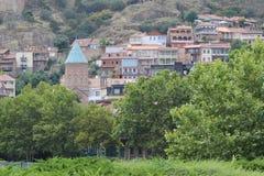 Gammal del av huvudstaden i Georgia arkivfoto