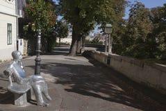 Gammal del av Zagreb Arkivfoton
