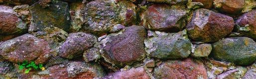 Gammal del för murverkvägg Arkivbild