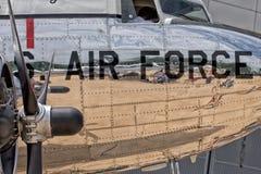 Gammal detalj för flygplanjärnpropeller Fotografering för Bildbyråer