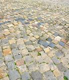 Gammal diagonal trottoar Royaltyfri Foto