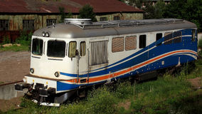 Gammal diesel- elektrisk lokomotiv Royaltyfri Foto