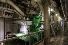 Gammal diesel- generator Arkivbild