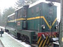 Gammal diesel- lokomotiv Arkivfoton