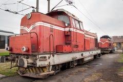 Gammal diesel- lokomotiv Arkivbilder