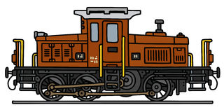 Gammal diesel- lokomotiv Royaltyfria Foton