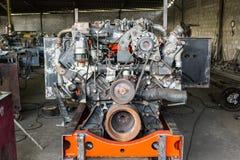 Gammal dieselmotor Arkivfoton