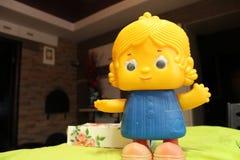 Gammal docka från barndom Arkivfoton
