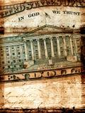 gammal dollar oss Arkivbild