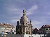 Gammal domkyrka av Dresden Arkivbilder